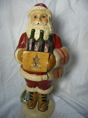 Vaillancourt Folk Art Wine Santa Signed by Judi Vaillancourt