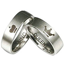 coi Jewelry Titanium King Queen Wedding Band Ring-398 - $69.99