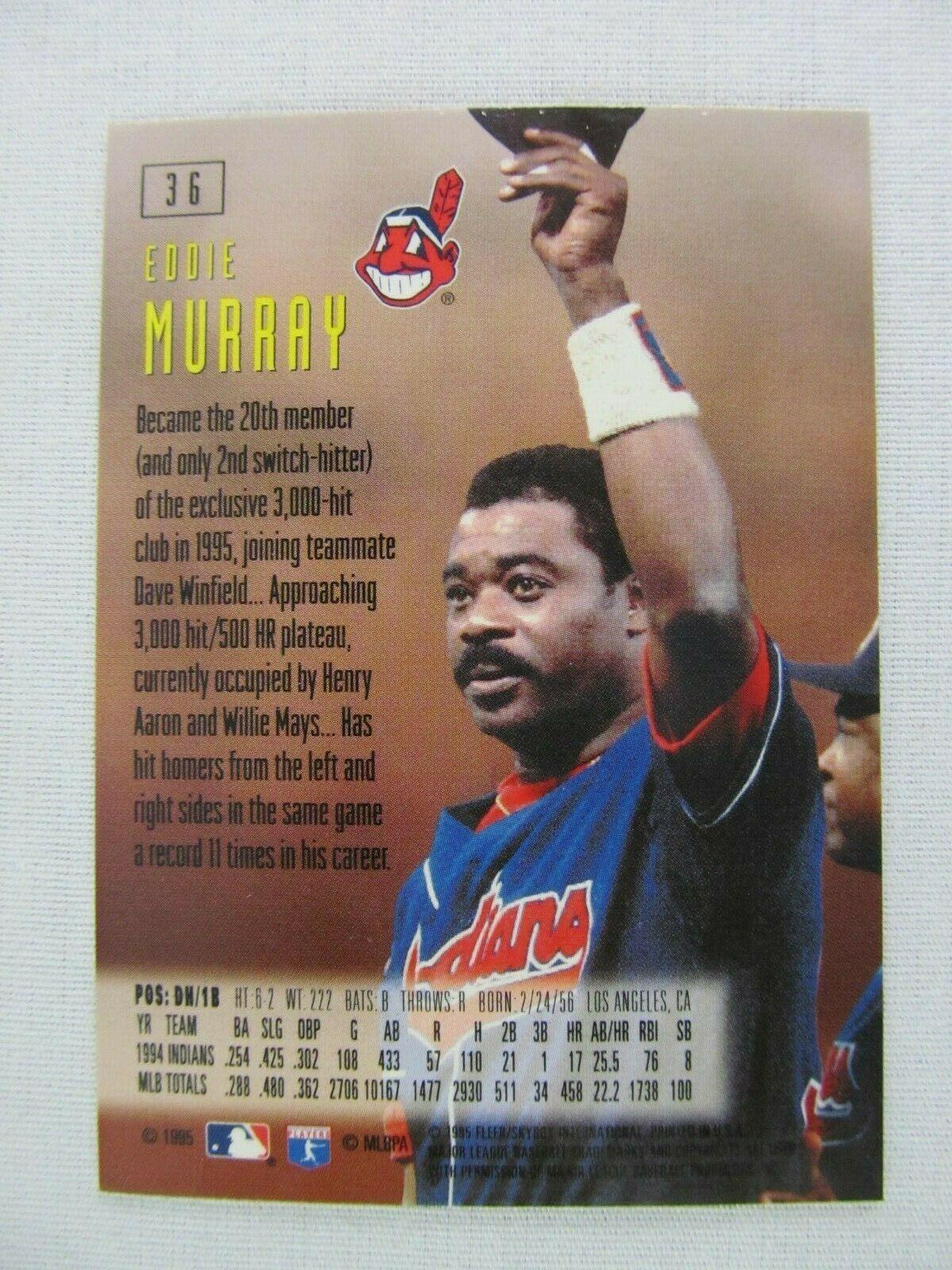 Eddie Murray Cleveland Indians 1995 Fleer Baseball Card 36