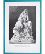 NUDE Sculpture Spring Nymph Healing Sick - VICTORIAN Era Print - $13.49