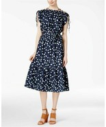 Maison Jules Women's Printed Smocked Dress Navy Multi 2XS - $98.51