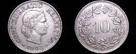 1943 Swiss 10 Rappen World Coin - Switzerland - $14.99