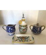 Deruta Italian Ceramic Kitchen Set 4 Pieces. - $45.00