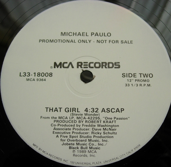 Michael Paulo - Fundamental Thing / That Girl - MCA Records L33-18008 PROMO