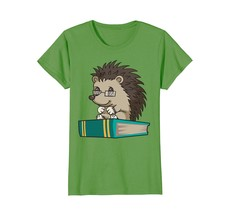 Cute Unique Bookworm Reading Hedgehog Shirt Gift - $19.99+