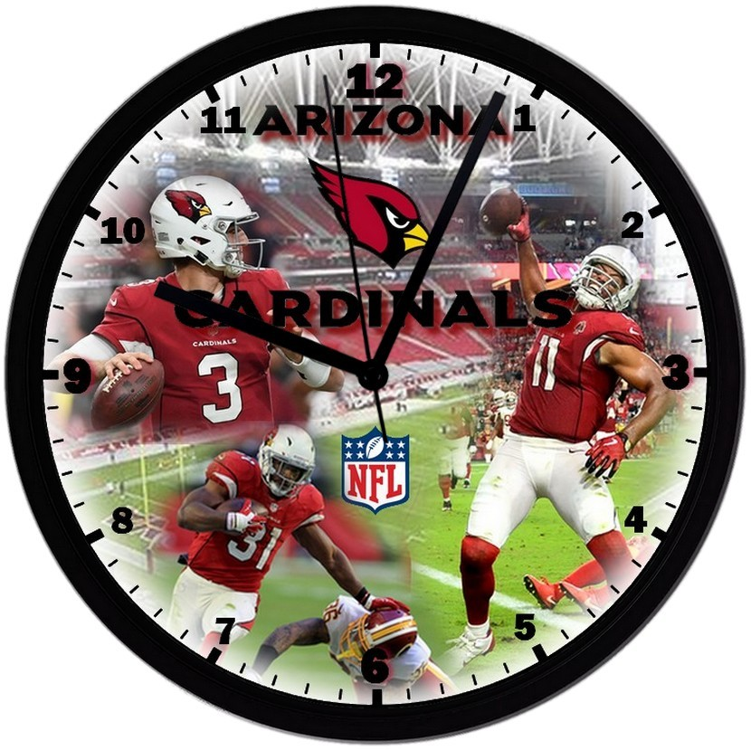 "Primary image for Arizona Cardinals Homemade 8"" NFL Wall Clock w/ Battery Included"