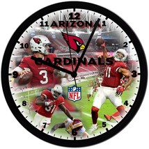 "Arizona Cardinals Homemade 8"" NFL Wall Clock w/ Battery Included - $23.97"