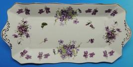 "Hammersley Victorian Violets 13-3/4"" x 6-1/2"" Tray Fine Bone China England - €74,81 EUR"