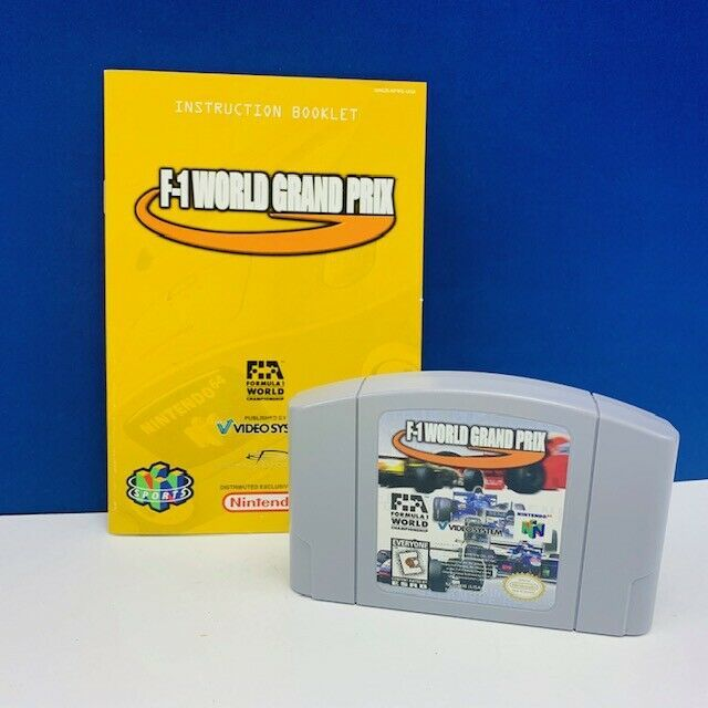 Nintendo 64 video game cartridge F1 World grand Prix formula 1 racing world vtg