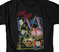 Star Trek t-shirt original cast series anime sci-fi graphic tee CBS1158 image 2