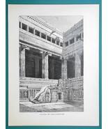 INDIA Chillambaran Temple Pagoda - 1877 Wood Engraving Illustration - $8.09