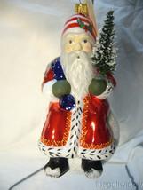 Vaillancourt Folk Art Snow Balls Ornament Traditional Red Santa image 1