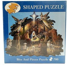 Nativity Scene 750 Pc Shaped Puzzle Christmas Jesus IN THE MANGER NEW Se... - $23.88