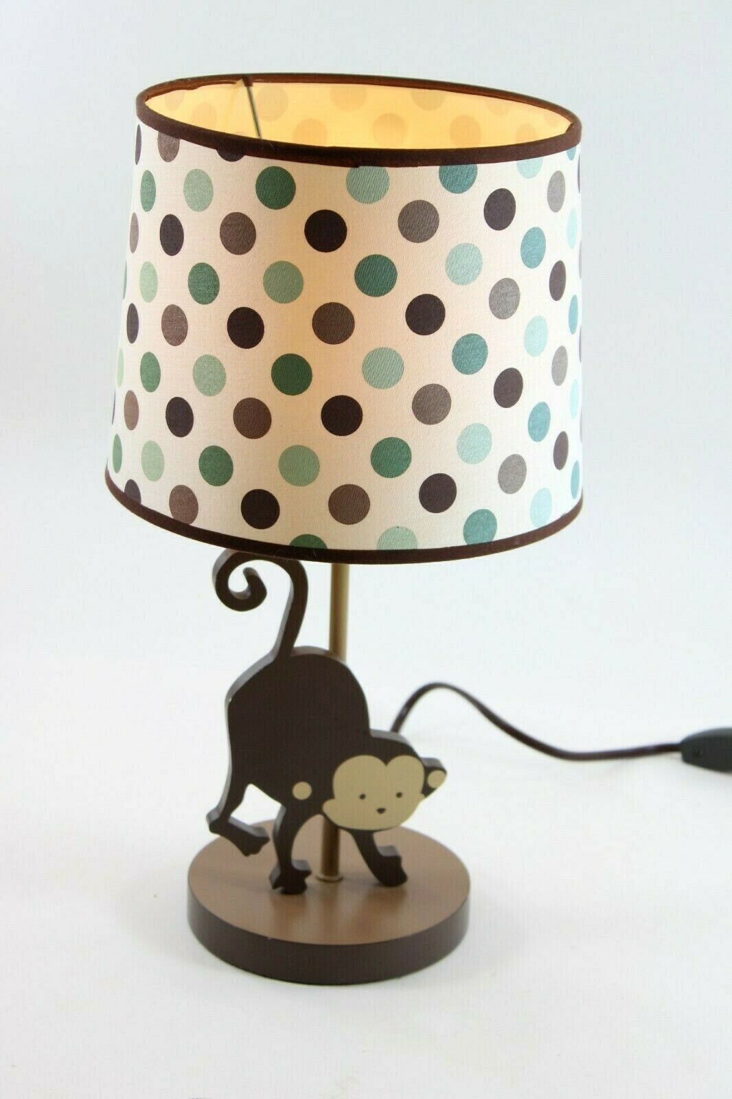 "Primary image for Polka Dot Monkey Lamp with Shade, inline switch, & w/ Bulb, 16"" Tall"