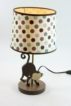 "Polka Dot Monkey Lamp with Shade, inline switch, & w/ Bulb, 16"" Tall - $37.99"