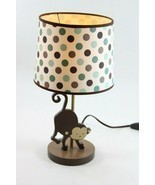 "Polka Dot Monkey Lamp with Shade, inline switch, & w/ Bulb, 16"" Tall - £27.82 GBP"