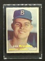 1957 Don Drysdale Rookie Original Topps Baseball Card #6 - Excellent Ung... - $650.00