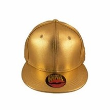 Married to the Mob MTTM NYC womens Shiny Metallic Gold Hat Fitted Size S - $16.79