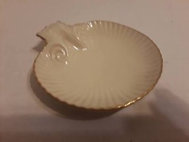"5"" LENOX SeaShell Plate Hand Decorated w/ 24kt Gold inlay  - $15.85"