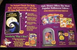 Disney Haunted House Video Promo Nightmare Before Christmas Winnie The P... - $18.99