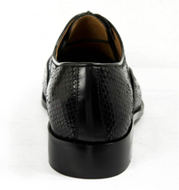 Mens Hand Made Dragon Skin Luxury Formal Black Leather Shoes image 5