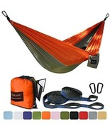 FARLAND Outdoor Camping Hammock - Portable Anti-fade Nylon Double Hammo... - £49.26 GBP