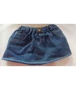 BUILD A BEAR LABELED BLUE DENIM SKIRT for kids play • pre-owned • nice cond - $12.70