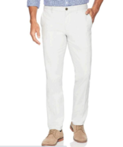 Amazon Men's Slim-Fit Wrinkle-Resistant Flat-Front Chino Pant, WHITE 32W X 32L image 2