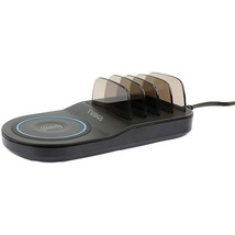 Naxa NAP-5000 5-in-1 Wireless Fast Charging Station with Qi and 4 USB Ports - $65.81