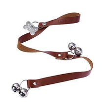 UEETEK Dog Door Bell Leather Dog Doorbells for Housetraining Adjustable ... - ₹705.18 INR