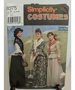 Simplicity 8375 Misses Petite 12,14,16 Costume Pattern Dress Theater Rei... - $17.82