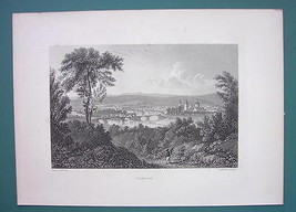 GERMANY City of Hameln - 1887 Steel Engraving by Cpt. Batty - $13.05