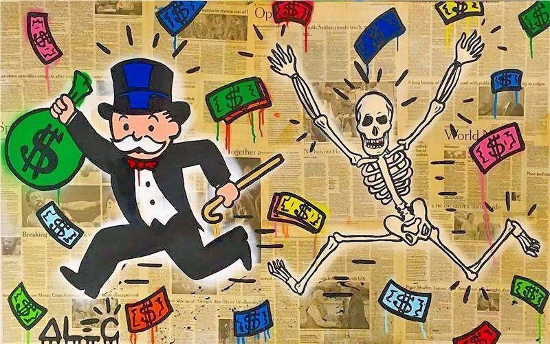 Alec Monopoly Amazing HD print on Canvas Urban art wall decor ...