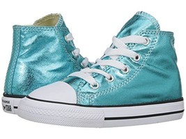 Converse Infant/Toddlers Taylor All Star Hi Top Cyan/Black/White 755555F - $37.65