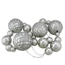 Northlight 6' Oversized Shatterproof Shiny Silver Christmas Ball Glitter... - $43.30