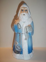 Fenton Glass Christmas Santa Claus Figurine Snowy Owl FAGCA  CC Hardman ... - $290.52