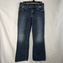 Silver Jeans Womens Size 29 Denim Boot Cut Flap Pockets Suki Surplus Blue  - $24.98