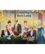 The Baccarat Player Winning at Gambling Metal Sign by Lee Dubin - $30.00