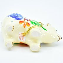Handcrafted Painted Ceramic White Polar Bear Confetti Ornament Made in Peru image 5