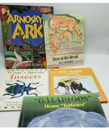 Animal Childrens Fact Books Lot 5 Jim Arnoskys Ark tortoise Insects Bee ... - $20.00
