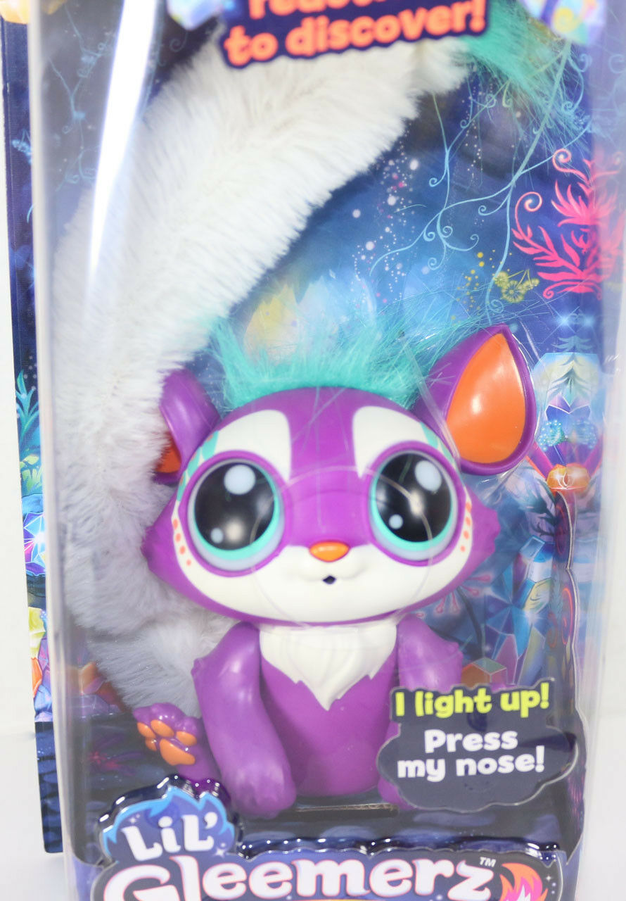 Mattel LIL GLEEMERZ PURPLE LOOMUR Light Up RAINBOW LEMUR INTERACTIVE TOY New HOT