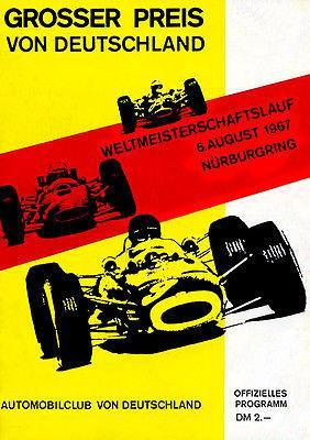 Primary image for 1967 German Grand Prix Race - Nurbergring - Promotional Advertising Poster