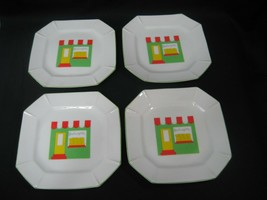 Set of Four (4) Salad Dessert Plates Dishes Made in Japan Bovlangerie 55817 - $18.65