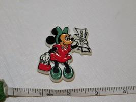 Vintage Disney Minnie Mouse Magnete Rigida Plastica Coupons Frigorifero Raro - $15.48