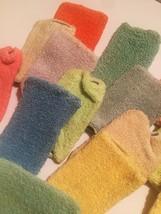 Vintage 50s Hi-Jacs Sock Coasters Cloth Slip-on Coasters - set of 15 image 7