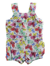 First Impressions Baby Girls Multicolor Butterflies-Print Romper - $15.00