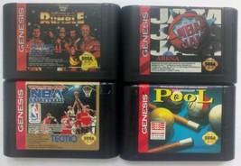 Sega Genesis Sports Games Lot of 4 NBA Jam, Championship Pool, WF Royal Rumble - $19.00