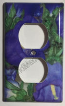 Flash Purple Flower Light Switch Power Outlet wall Cover Plate & more Home Decor image 2