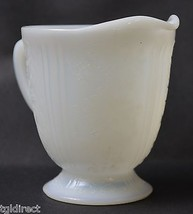 Vintage Opalescent Milk Glass Creamer Victorian Pattern Home Decor Collectible - $14.99