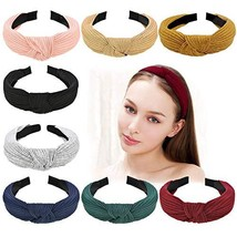 Wide Headbands Knot Turban Headband Plain Fashion Elastic Hairband Head ... - $13.79